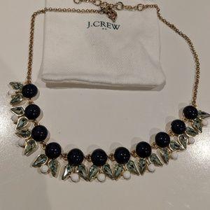 J Crew - Dark Blue, Sapphire, White, gold necklace